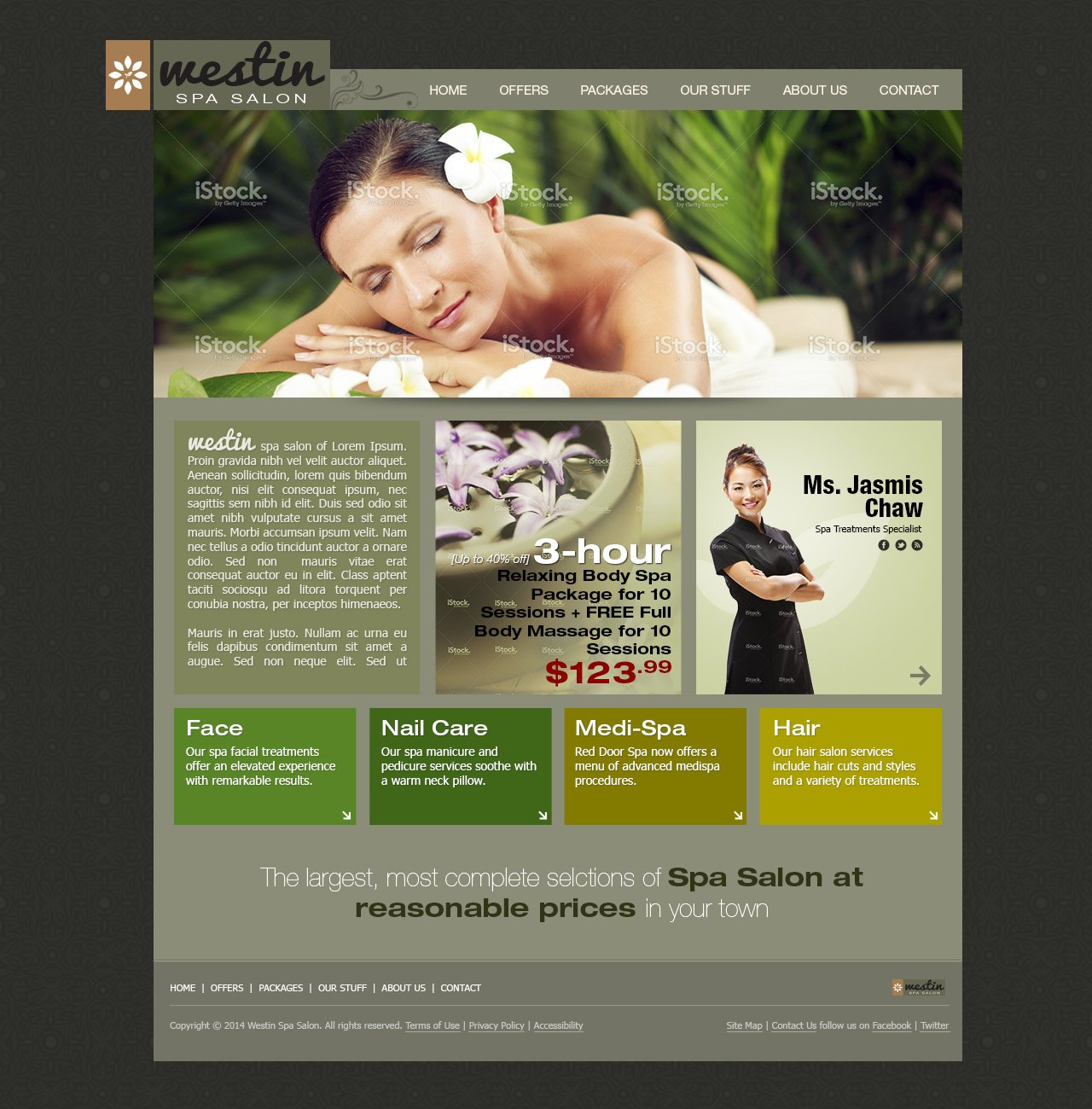 free spa salon template