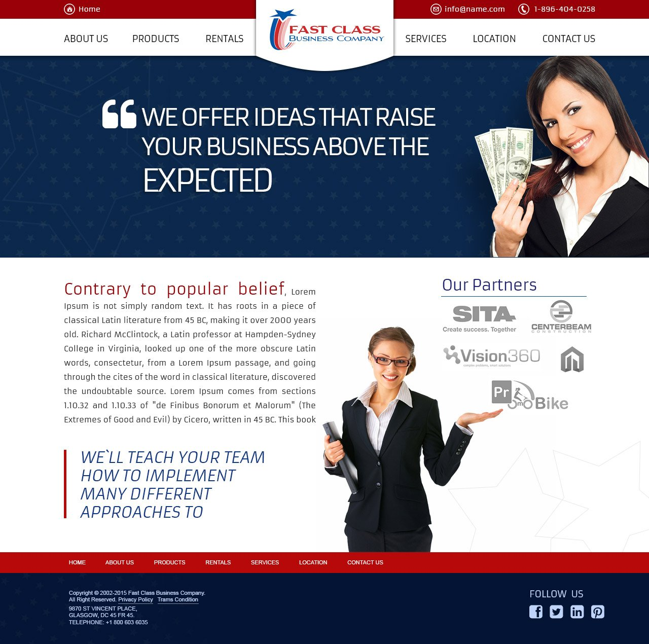 american business template