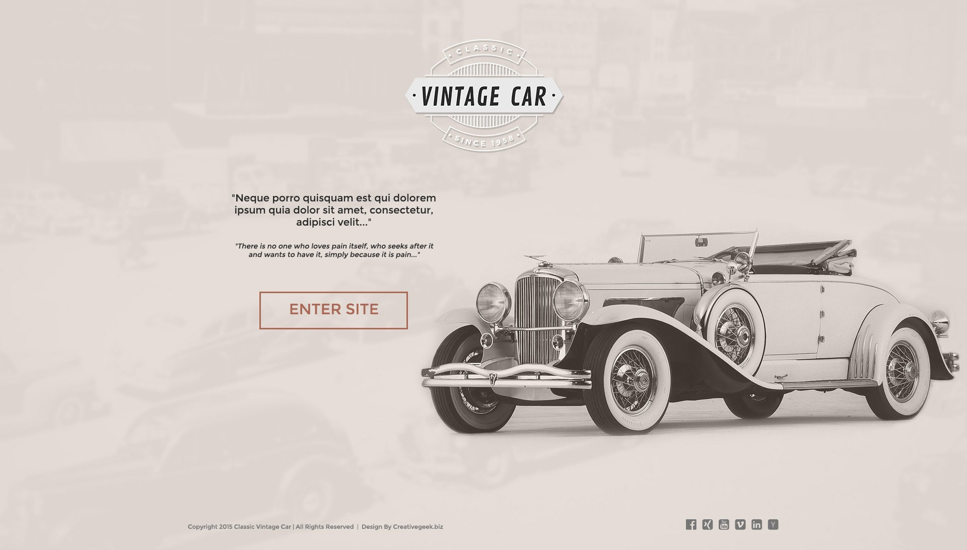 Free Vintage Car template - Creativegeek